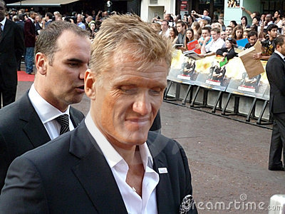 Dolph Lundgren At The Expendables Premiere Editorial Stock Photo
