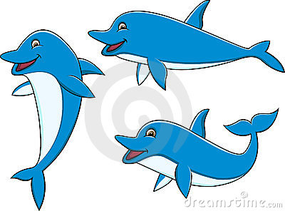 Dolphin cartoon collection