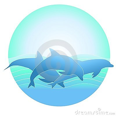 Free Dolphin Logo Or Background Stock Images - 5894474