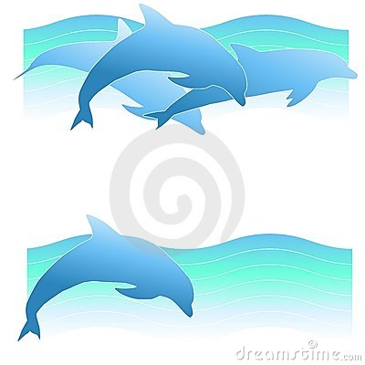 Free Dolphin Logos Or Banners 2 Royalty Free Stock Image - 5305846