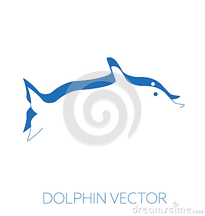 Dolphin minimal vector illustration Vector Illustration