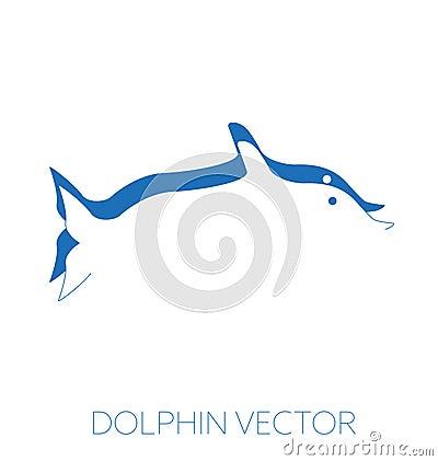 Dolphin minimal vector illustration Vector Illustration