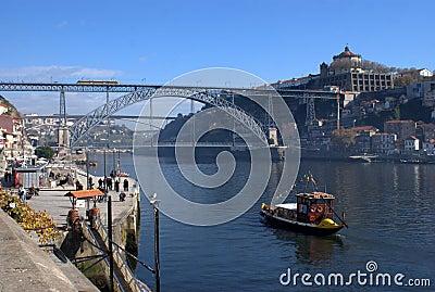 Dom Luis Bridge on Oporto, Portugal