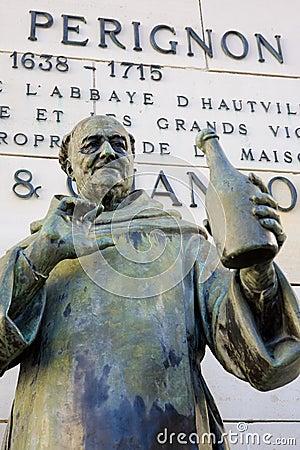 Dom Perignon statue Editorial Photography