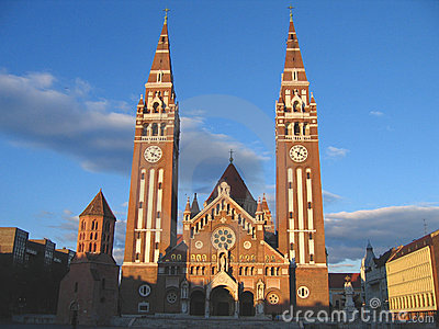 Dom Square and Votive Church 05, Szeged, Hungary