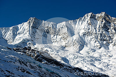 Dom and Taeschorn mountain peaks