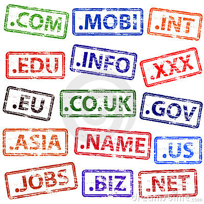 Domain name rubber stamps