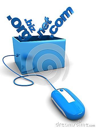 Domain names in box