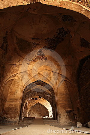 Dome and arches at Golkonda Fort, Hyderabad