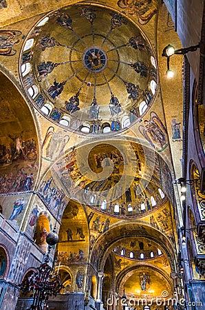 Dome of Basilica di San Marco, Venice Editorial Stock Photo