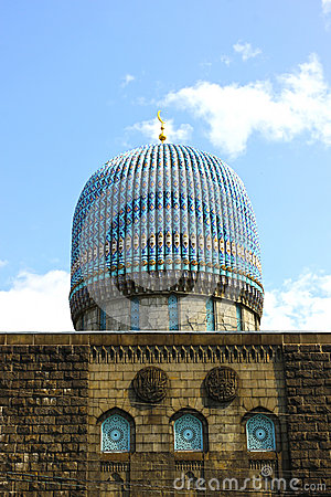 Dome of the central Muslim mosque in St. Petersburg