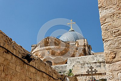 Dome of the Church of the Holy Sepulchre in Jerusa