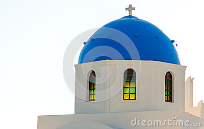 Dome of a church in Santorini
