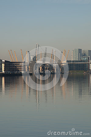 Free Dome & Docklands Royalty Free Stock Photography - 24942597