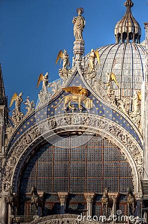 Free Dome, Facade San Marco Basilica, Venice, Italy Stock Image - 55995621