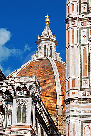 The Dome Of Florence, Details Royalty Free Stock Image - Image: 21003896