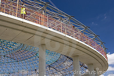The dome of indoor sports arena in Vitoria-Gasteiz Editorial Photo