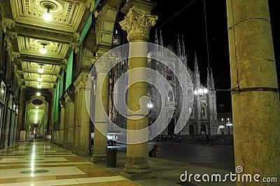 Dome night Milan
