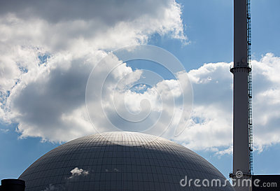 The dome of a nuclear reactor