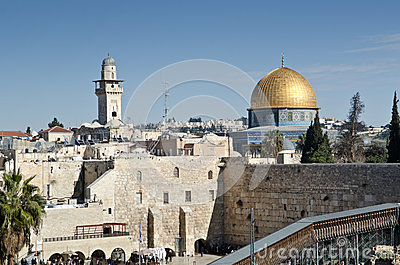 Dome of the rock in Jerusalem Editorial Image