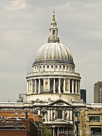 The dome St Paul s Cathedral  in London