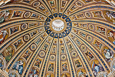 The dome of St. Peter in Rome
