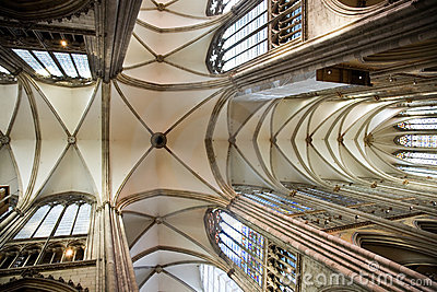 Dome vault of gothic Dom in Cologne
