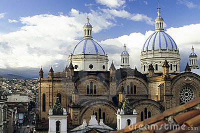 Domed Cathedral, in Cuenca, Ecuador