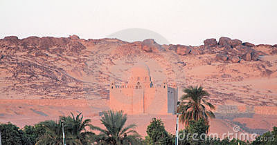 Domed house in Egyptian desert