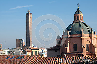 Domed roof of the Sanctuary of Santa Maria della Vita, Bologna Italy.
