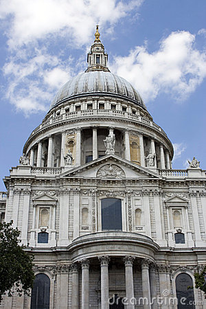 Domed roof of St Pauls Cathedral, London