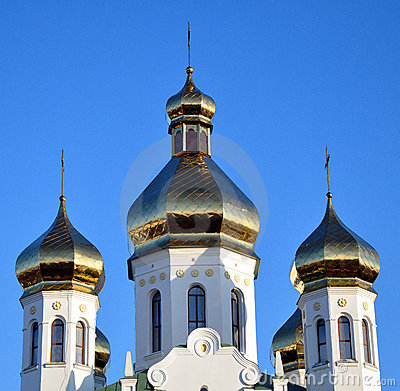 Domes of the ancient Russian church