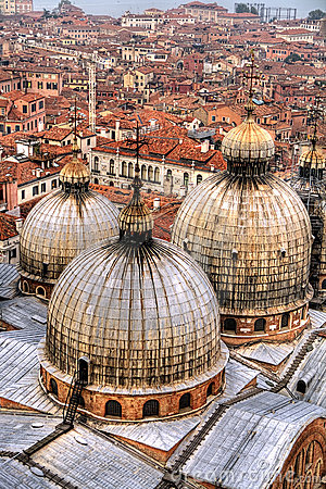 Free Domes And Rooftops, Venice. Stock Images - 11283624