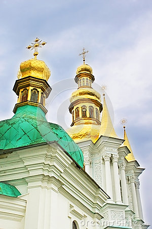 Domes of church of Nativity of the Holy Virgin