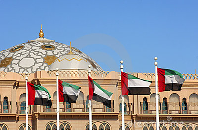 Domes of the Emirates Palace in Abu Dhabi