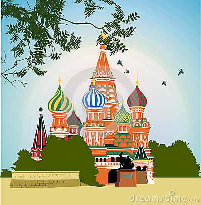 Domes of the famous Head of St. Basil s Cathedral