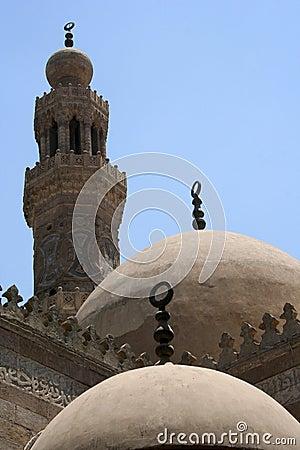 Domes & minaret in cairo