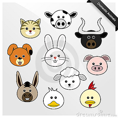 Domestic Animal Cute Cartoon