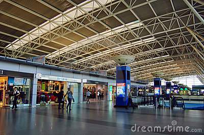 Domestic departure hall at China Shenzhen Airport Editorial Image