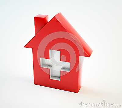 Domestic healthcare symbol