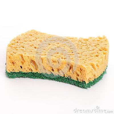 Domestic sponge isolated over white background