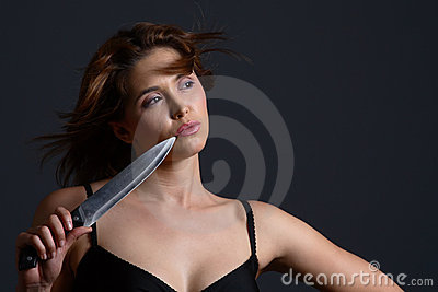Domestic violence knife