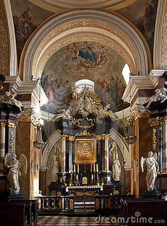 Dominican Church Shrine  - Krakow - Poland Editorial Stock Image