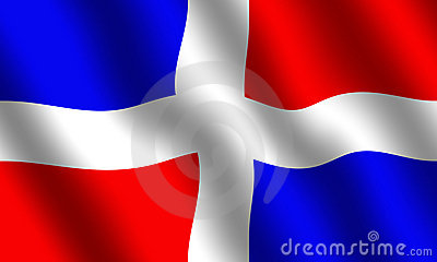 Dominican Republic Flag Stock Photo
