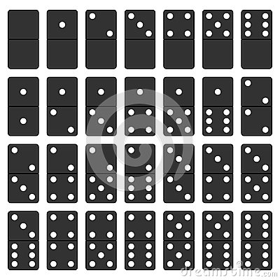 Free Domino Black And White Set Stock Image - 30577861