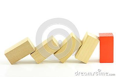 Domino of blocks