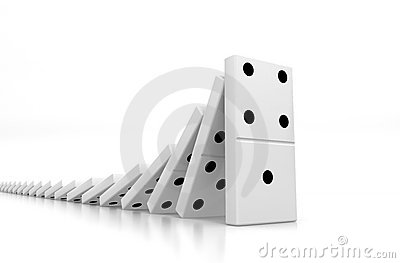 Domino Effect Royalty Free Stock Photo - Image: 7166345