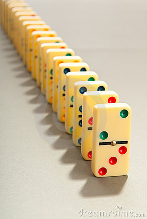 Domino effect with  pieces