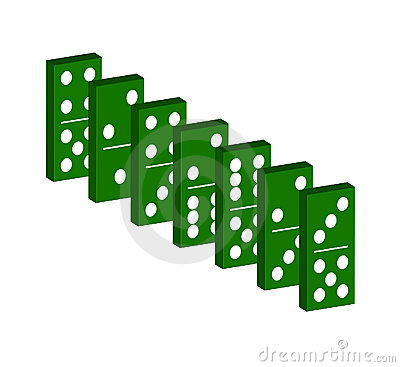 Domino in green