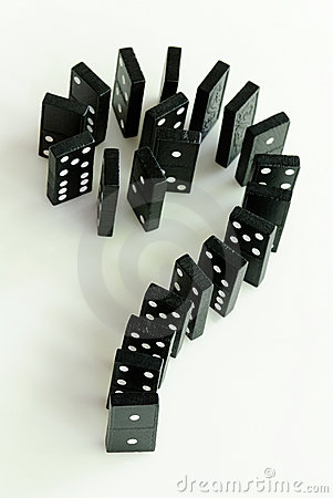 Free Domino Question Mark Stock Image - 16642671